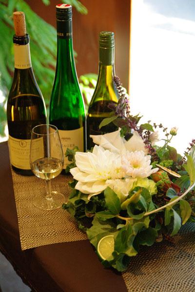 ワインとお花のおいしいコーディネート