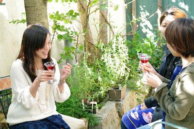 ワインとお花のコーディネートレッスン09