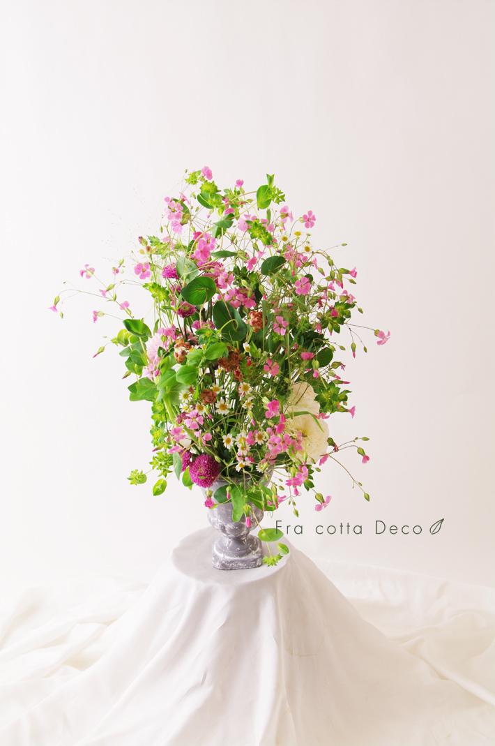 小花のオーバルアレンジメント