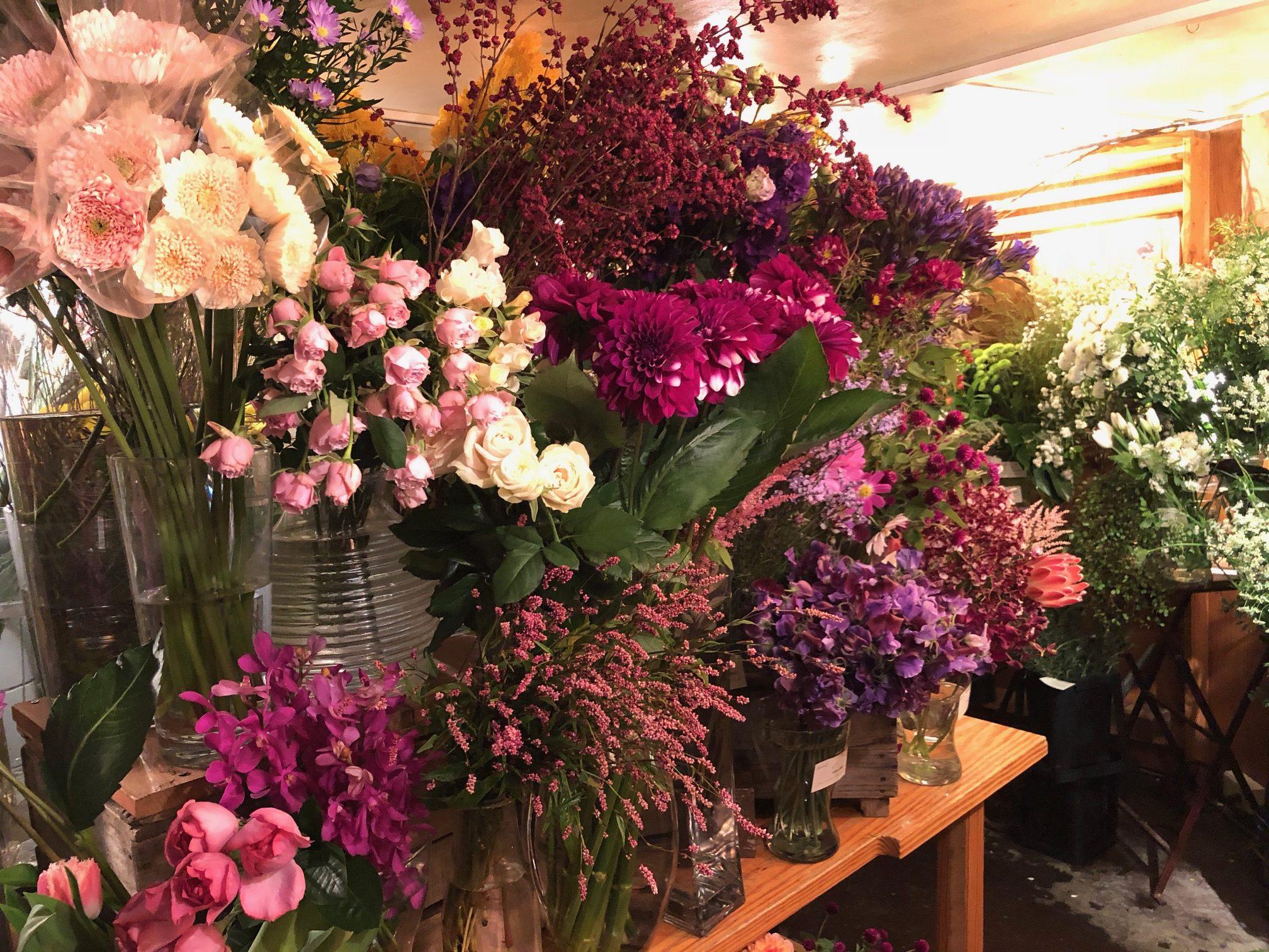 自由選択花材のレッスン