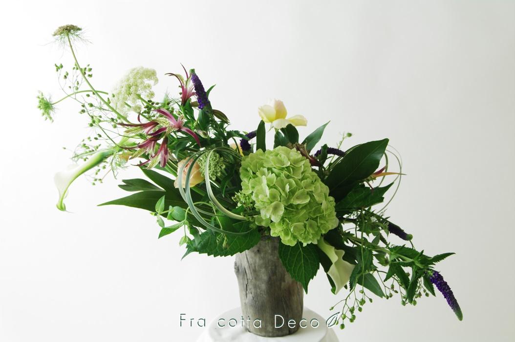 【市場見学・仕入実習NO2】生徒さん、自ら市場で仕入れた花材で作品を制作!