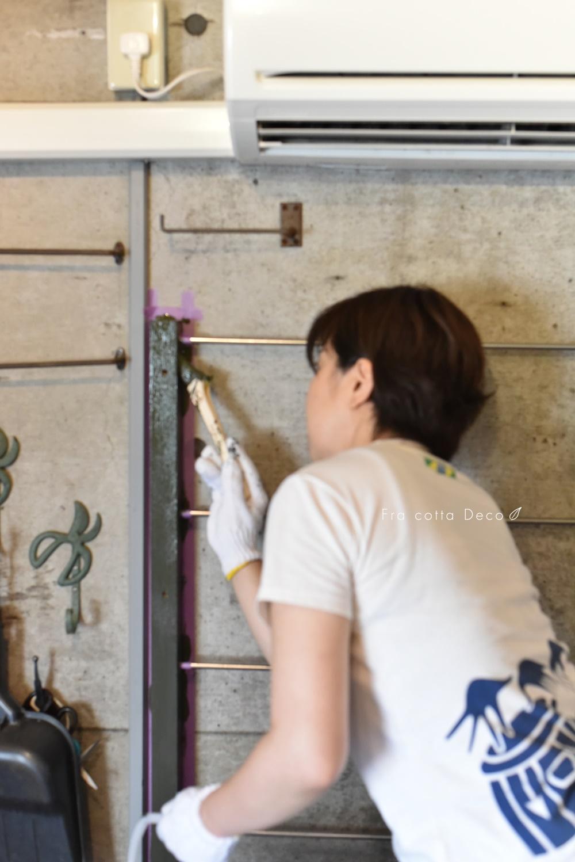【夏休み2】ペンキ塗り「ベンジャミンムーア中野ブランドショップ」