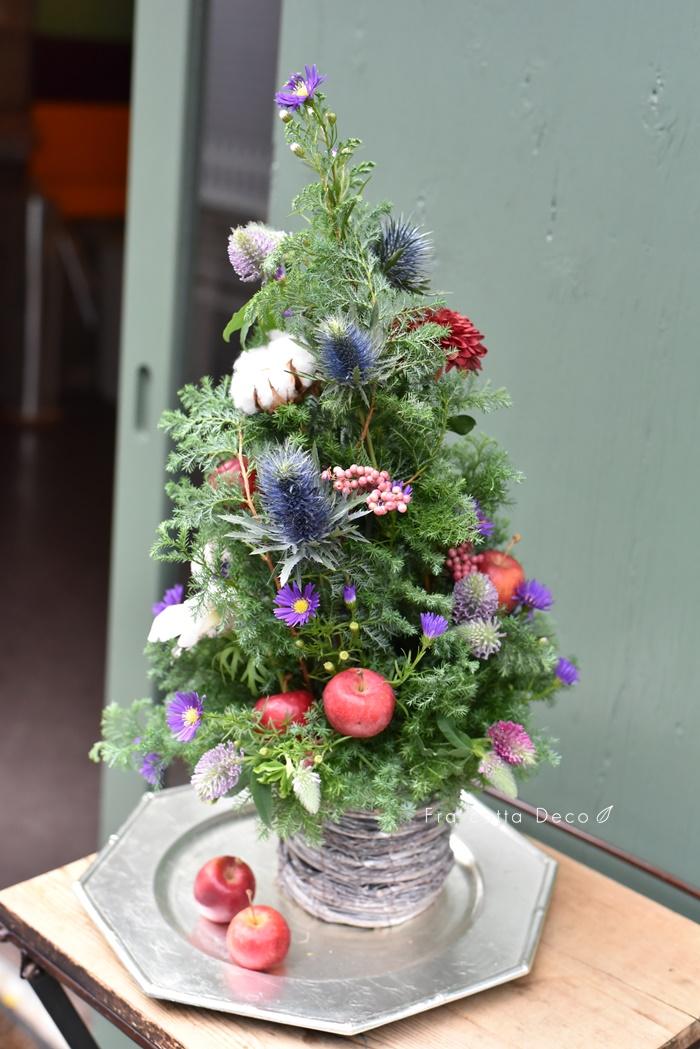 12月のレッスンは手作りクリスマスツリー