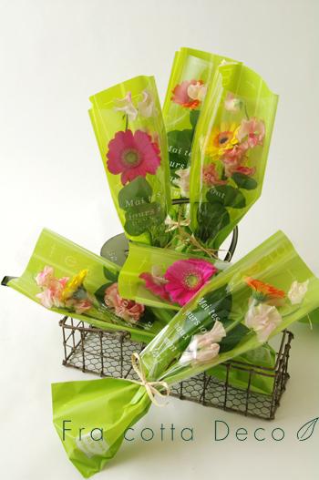 卒業生や先生へ贈る花束