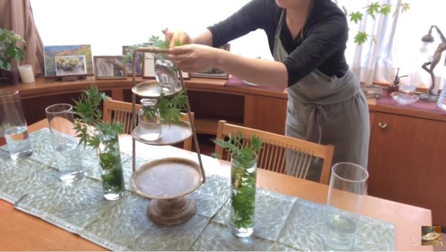 【動画】ワクワクする素敵なひととき、アフタヌーンティーの花活け