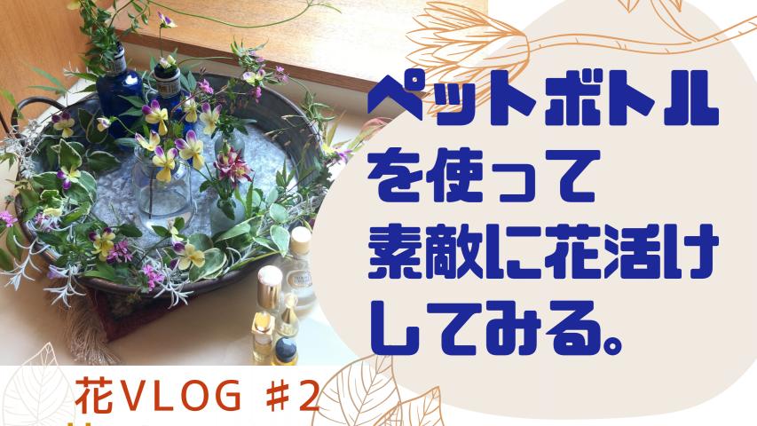 【動画】『花のある暮らし』花vlog #2 真似したくなる花しつらい。庭から摘んだ花で水盤活けを楽しむ